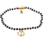 Spartina 449 18K Matte Goldtone Twinkle Stretch Anchor Bracelet