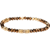 Spartina 449 Resin and Gold Beaded Stretch 4mm Mirror Gold Bracelet