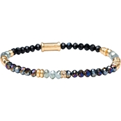 Spartina 449 Resin and Gold Beaded Stretch 4mm Night Multi Bracelet