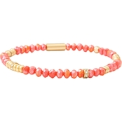 Spartina 449 18K Goldtone Stretch 4mm Coral Bracelet