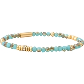 Spartina 449 18K Goldtone Stretch 4mm Sea Foam Bracelet