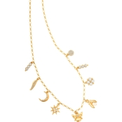 Spartina 449 18K Goldtone Mystical Droplet 17 in. Necklace