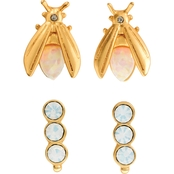 Spartina 449 18K Matte Goldtone Firefly Stud Earrings 2 Pc. Set