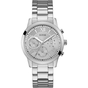 Guess Silver Tone Multifunction Dual Chronograph 40mm U1070L1