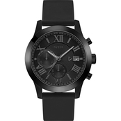Guess Men's Black Classic Multifunction Dual Chronograph 44.5mm U1055G1