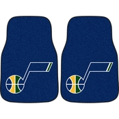 Fan Mats NBA 17 in. x 27 in. Carpeted Car Mats 2 Pc. Set