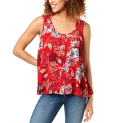 Style & Co. Petite Printed Button Front Top