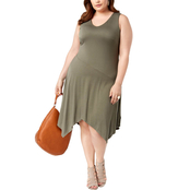 INC International Concepts Plus Size Handkerchief Hem Dress
