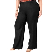 INC International Concepts Plus Size Wide Leg Pants
