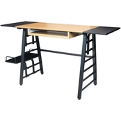 Calico Designs Ashwood Convertible Desk with Height Adjustable Shelves