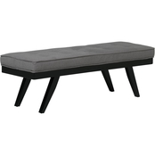 Studio Designs Home Parvise Tufted Microfiber Bench