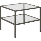 Studio Designs Home Camber Modern Glass End Table