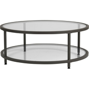 Studio Designs Home Camber Modern Glass Round Coffee Table