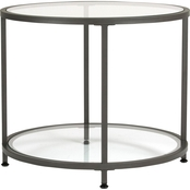 Studio Designs Home Camber Modern Glass Round End Table