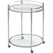 Studio Designs Home Veranda Modern Glass Round Cart