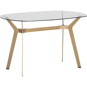 Studio Designs Home Archtech Modern Glass 48 In. Desk / Dining Table