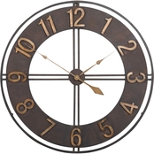 Studio Designs Home 30 in. Industrial Loft Wall Clock