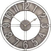 Studio Designs Home 15 in. Industrial Loft Wall Clock