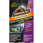 Armor All Ultra Shine Headlight Restoration Wipes 6 ct.