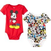 Disney Infant Boys 2 pc. Mickey Bodysuit Set
