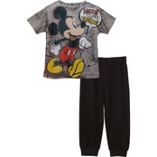 Disney Infant Boys Mickey Sublimated Top/French Terry Jogger Set