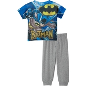 DC Comics Toddler Boys Batman Sublimated Top/French Terry Jogger Set