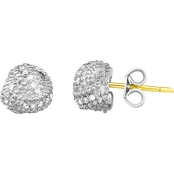 Phillip Gavriel 18K Gold and Sterling Silver 1/7 CTW Diamond Love Knot Earrings