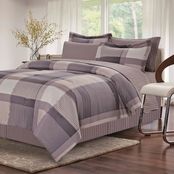 Brown & Grey Harmony Grey Bed in a Bag Set