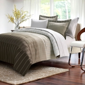 Brown & Grey Ombre Stripe Bed in a Bag Set