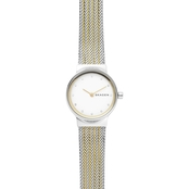 Skagen Freja Women's Two Tone Steel Mesh Watch 26mm SKW2