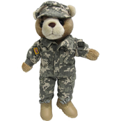 Bear Forces of America Plush Bear in Army Combat Uniform (ACU), 11 in. Female