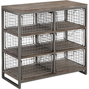 Home Styles Barnside Metro Wire Basket Chest