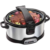 Hamilton Beach Programmable Stay or Go 6 Quart Slow Cooker with Hinged Lid
