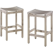 Home Styles Stainless Steel Stool 2 pk.
