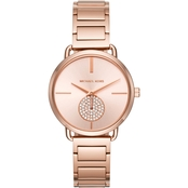 Michael Kors Women's Portia Rose Goldtone Two Hand Sub Eye Watch MK3640