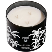 Victoria's Secret Pink Coconut & Palm Leaves 3 Wick Candle