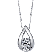 14K Gold 1/5 ct. Sirena Diamond Teardrop Pendant