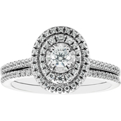 14K White Gold 1/2 CTW Diamond Bridal Set