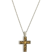 Symbols of Faith 14K Gold Dipped and Silvertone Cross Pendant