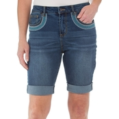 Cherokee Denim Bermurda Shorts with Embroidery