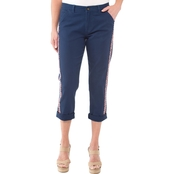 Cherokee Chino Capri Pants with Embroidery