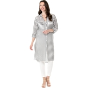 Jones New York Long Tunic with Roll Cuffs