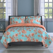 1888 Mills Inspired Surroundings Collection Watercolor Garden Floral Comforter Set