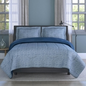 1888 Mills Inspired Surroundings Collection Grid Printed Texture Comforter Set