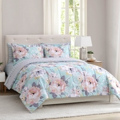 1888 Mills Peach and Oak Collection Sara Floral Comforter Set