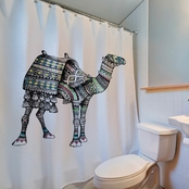 Engineered Print Camel Shower Curtain