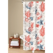 Oceanic Sea Life Printed Shower Curtain