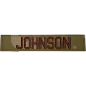 Air Force Embroidered Nametape Hook & Loop Standard 5 in. (OCP)