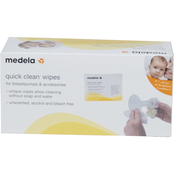Medela Quick Clean Breastpump and Accessory Wipes, Singles Pkg. of 40