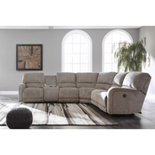 Ashley Pittsfield 3 pc. Power Reclining Sectional LAF Loveseat/Wedge/RAF Recliner